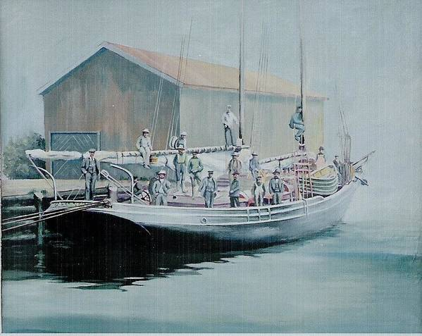 Marine Poster featuring the painting The Linus 11 by Barry Smith