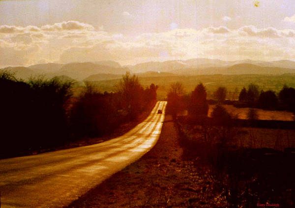 English Landscape Poster featuring the photograph The Long And Lonely Road....... by Rusty Gladdish