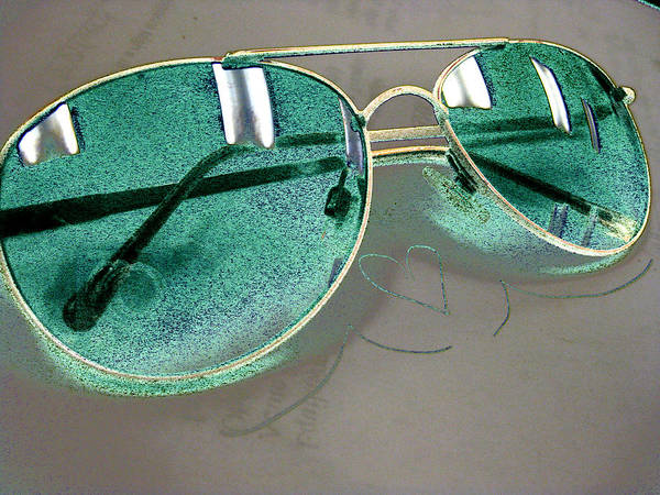 Glasses Poster featuring the photograph The Look Of Green by Anna Thomas