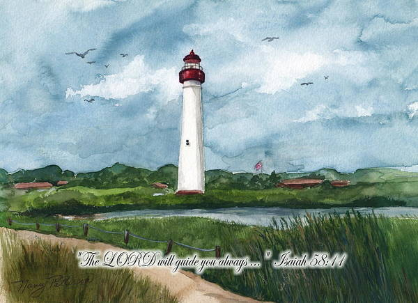 Cape May Lighthouse Poster featuring the painting The Lord Guides by Nancy Patterson