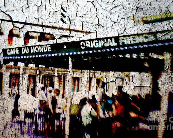 Cafe Du Monde Poster featuring the photograph The Market by Scott Pellegrin