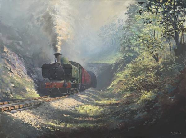 Steam Poster featuring the painting The Merthyr Tunnel by Richard Picton