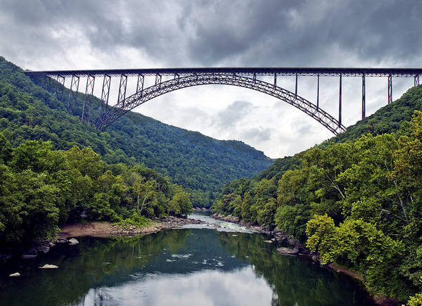 New Poster featuring the photograph The New River Gorge Bridge In West Virginia by Brendan Reals