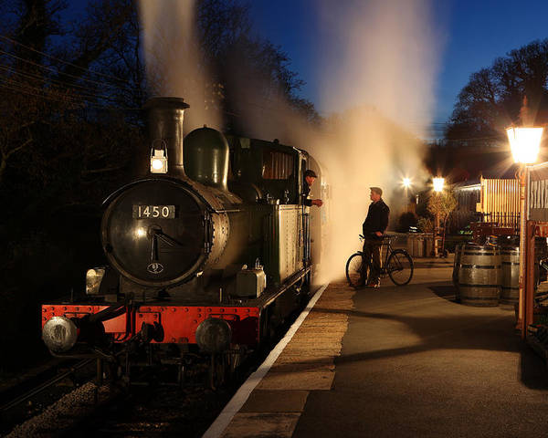 Steam Poster featuring the photograph The Night Shift by Robert Sherwood