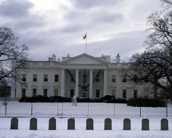 Washington Poster featuring the photograph The North View Of The White House by Stacy Gold