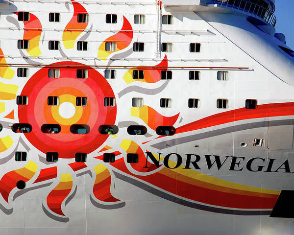 Heading South Poster featuring the photograph The Norwegian Sun Bow by Susanne Van Hulst