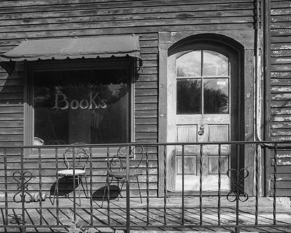 B&w Poster featuring the photograph The Old Book Store by Jeff Klingler