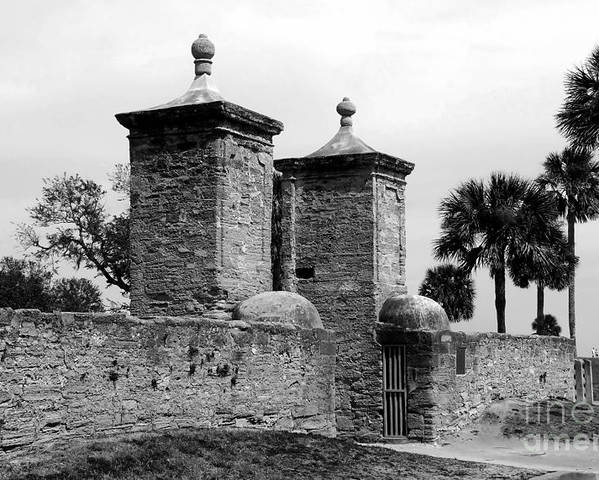 Saint Augustine Florida Poster featuring the photograph The Old City Gates by David Lee Thompson