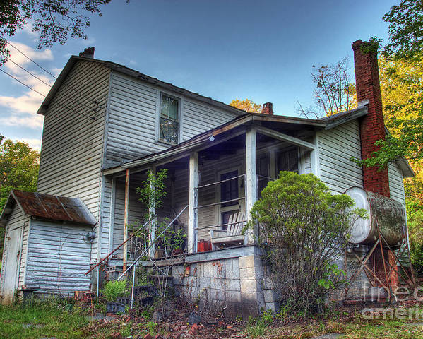 Landscape Poster featuring the photograph The Old Home Place by Pete Hellmann