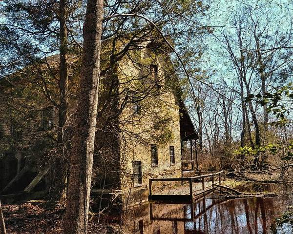 Grist Mill Poster featuring the photograph The Old Mill In The Countryside by Lanis Rossi