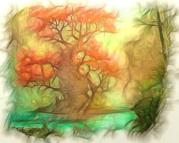 Digital Photo Art Poster featuring the photograph The Old Tree Of The Forest by Mario Carini