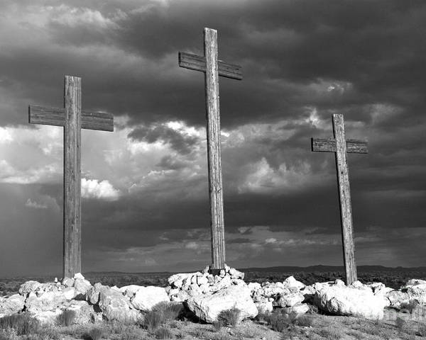 Crosses Poster featuring the photograph The Only Way by Kenneth Hess