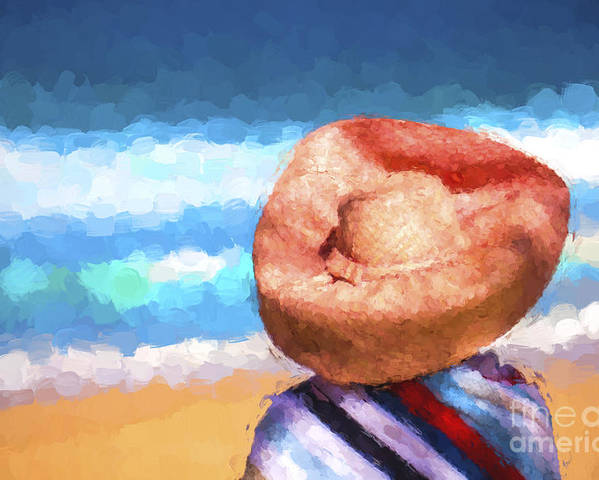 Avalon Beachl Poster featuring the photograph The orange hat by Sheila Smart Fine Art Photography