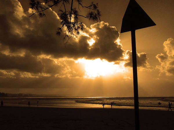 Sun Poster featuring the photograph The Pass Byron Bay by Edan Chapman
