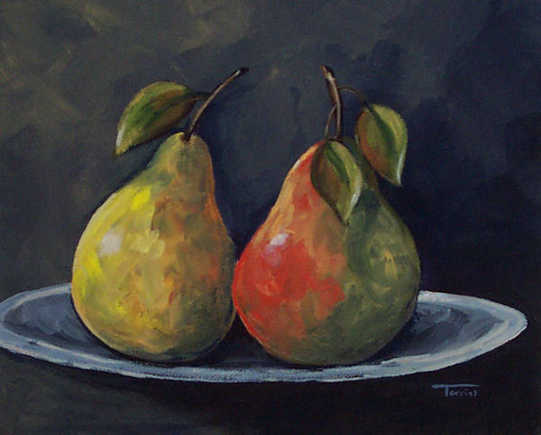 Pear Poster featuring the painting The Pears by Torrie Smiley