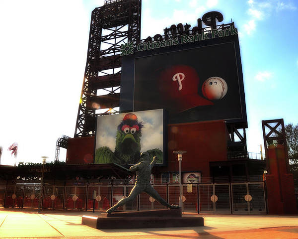 Sports Poster featuring the photograph The Phillies - Steve Carlton by Bill Cannon