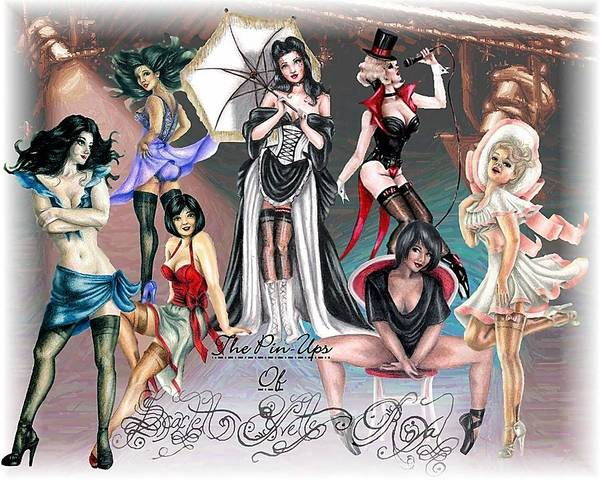 Pin Ups Poster featuring the digital art The Pin Ups of Scarlett Yvette Royal by Scarlett Royal