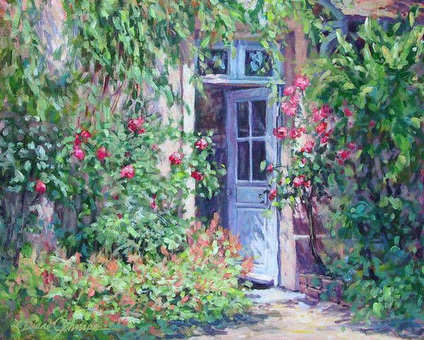 Giverny France Poster featuring the painting The Pink House by L Diane Johnson