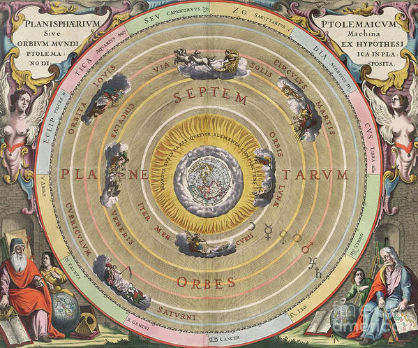 Science Poster featuring the photograph The Planisphere Of Ptolemy, Harmonia by Science Source