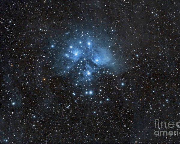 Abstract Poster featuring the photograph The Pleiades, Also Known As The Seven by John Davis