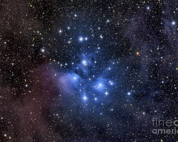 Messier 45 Poster featuring the photograph The Pleiades, Also Known As The Seven by Roth Ritter