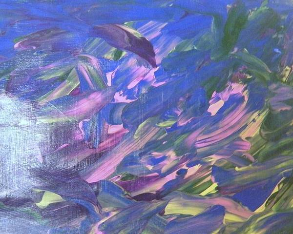 Purple Poster featuring the painting The Purple Dolphins by Pamela Ratliff