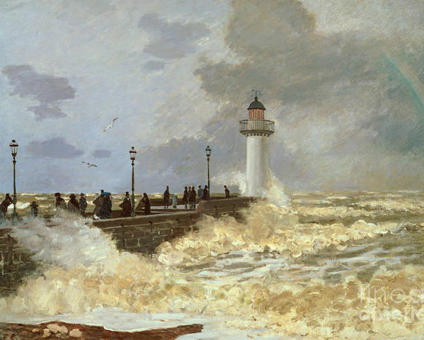 The Quay At Le Havre Poster featuring the painting The Quay At Le Havre by Claude Monet