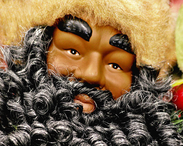 St Poster featuring the photograph The Real Black Santa by Christine Till