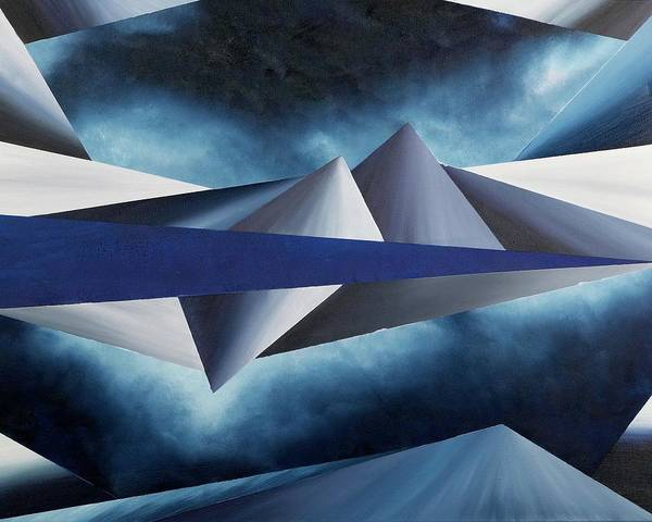 Abstract Geometry Poster featuring the painting The Reason of Tranquility by Ara Elena