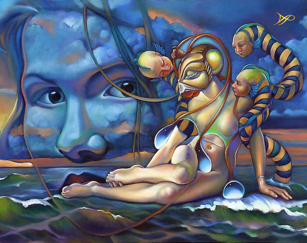 Mermaid Poster featuring the painting The Rebirth Of Venus by Patrick Anthony Pierson