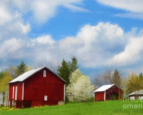 Red Barn Poster featuring the photograph The Red Barn by Kathy Russell
