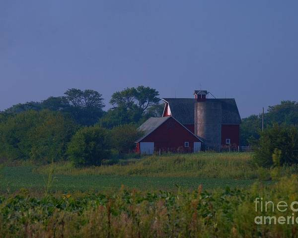 Poster featuring the photograph The Red Barn by Michelle Hastings