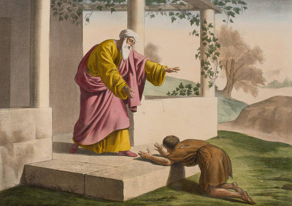 Prodigal Poster featuring the painting The Return Of The Prodigal Son by French School
