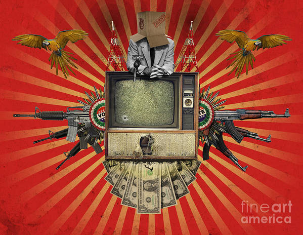Politics Poster featuring the digital art The Revolution Will Not Be Televised by Rob Snow