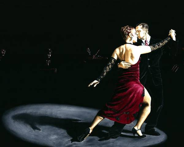 Tango Poster featuring the painting The Rhythm Of Tango by Richard Young