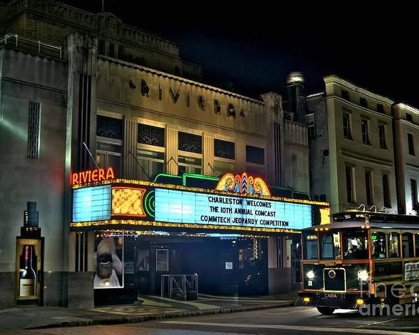 Corky Willis And Associates Atlanta Photography Poster featuring the photograph The Riveria Theater by Corky Willis Atlanta Photography