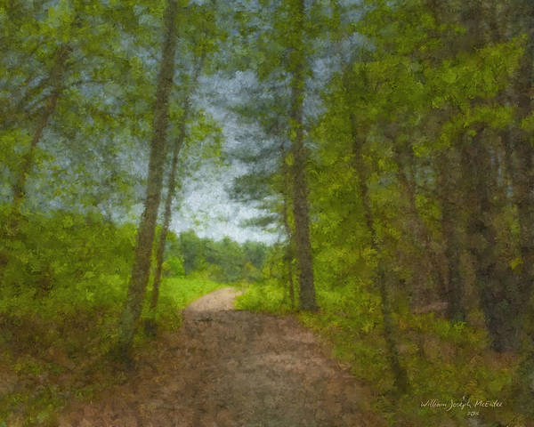 Landscape Poster featuring the painting The Road Goes Ever On And On by Bill McEntee