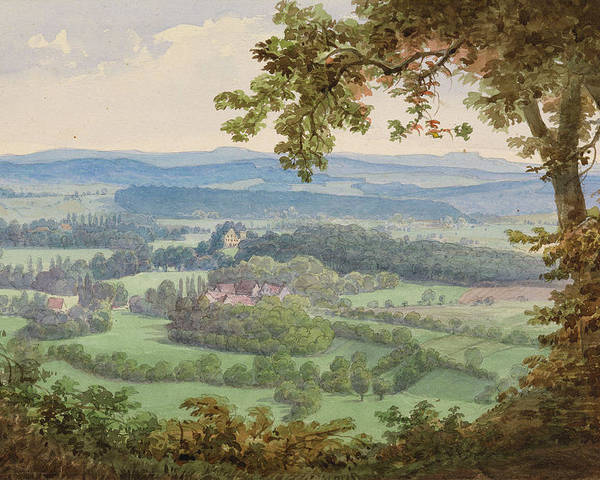 Max Brückner (1836-1919) The Rosenau From The Lauterburg 1883 2 Poster featuring the painting The Rosenau by MotionAge Designs