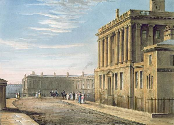 The Poster featuring the painting The Royal Crescent by David Cox