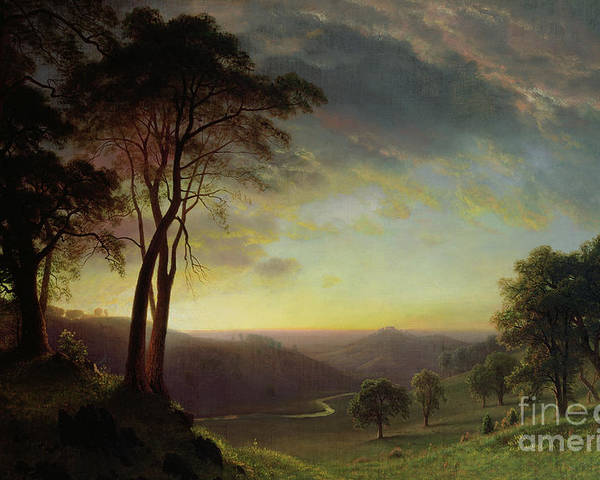 Albert Poster featuring the painting The Sacramento River Valley by Albert Bierstadt