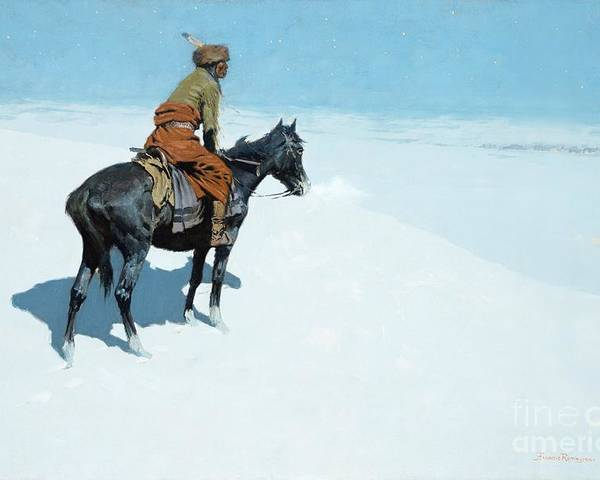 The Scout Poster featuring the painting The Scout Friends Or Foes by Frederic Remington