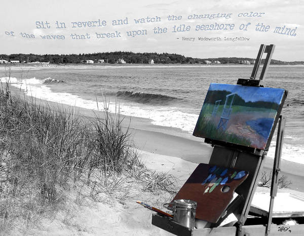 Digital Photography Poster featuring the photograph The Seashore by Sharon Crawford