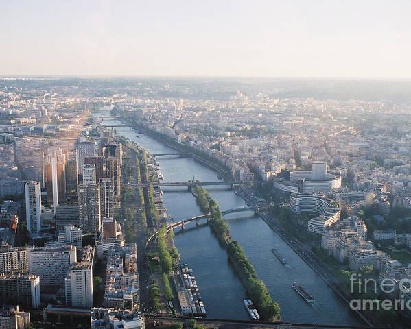 City Poster featuring the photograph The Seine River In Paris by Nadine Rippelmeyer
