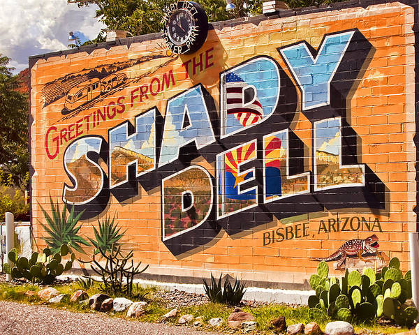 Bisbee Poster featuring the photograph The Shady Dell Bisbee Az by Lynn Andrews