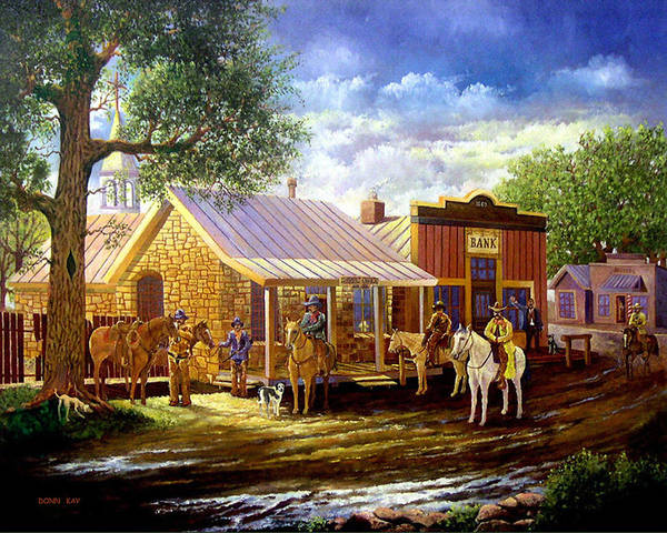 Western Art Lawmen Poster featuring the painting The Sheriffs Posse by Donn Kay