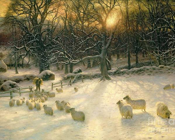 Winter Poster featuring the painting The Shortening Winters Day Is Near A Close by Joseph Farquharson