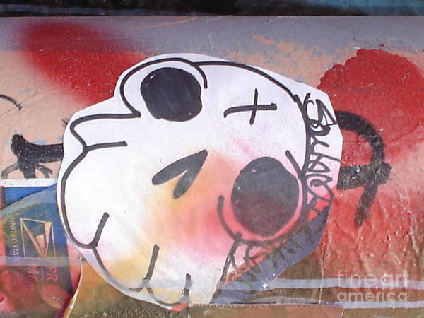 Urban Art Poster featuring the photograph The Smiling Skull by Chandelle Hazen