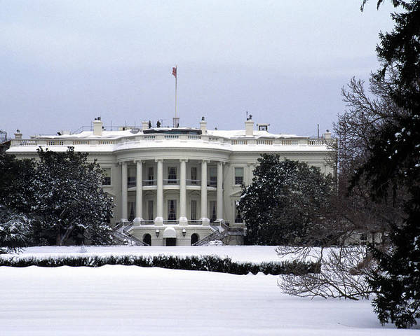 Washington Poster featuring the photograph The South View Of The White House by Stacy Gold