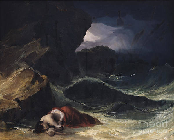 The Poster featuring the painting The Storm Or The Shipwreck by Theodore Gericault