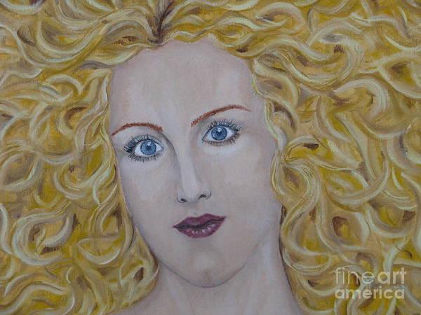 Art Poster featuring the painting The Sun - Fragment by Svetlana Vinokurtsev